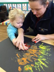Hand printing with Alison